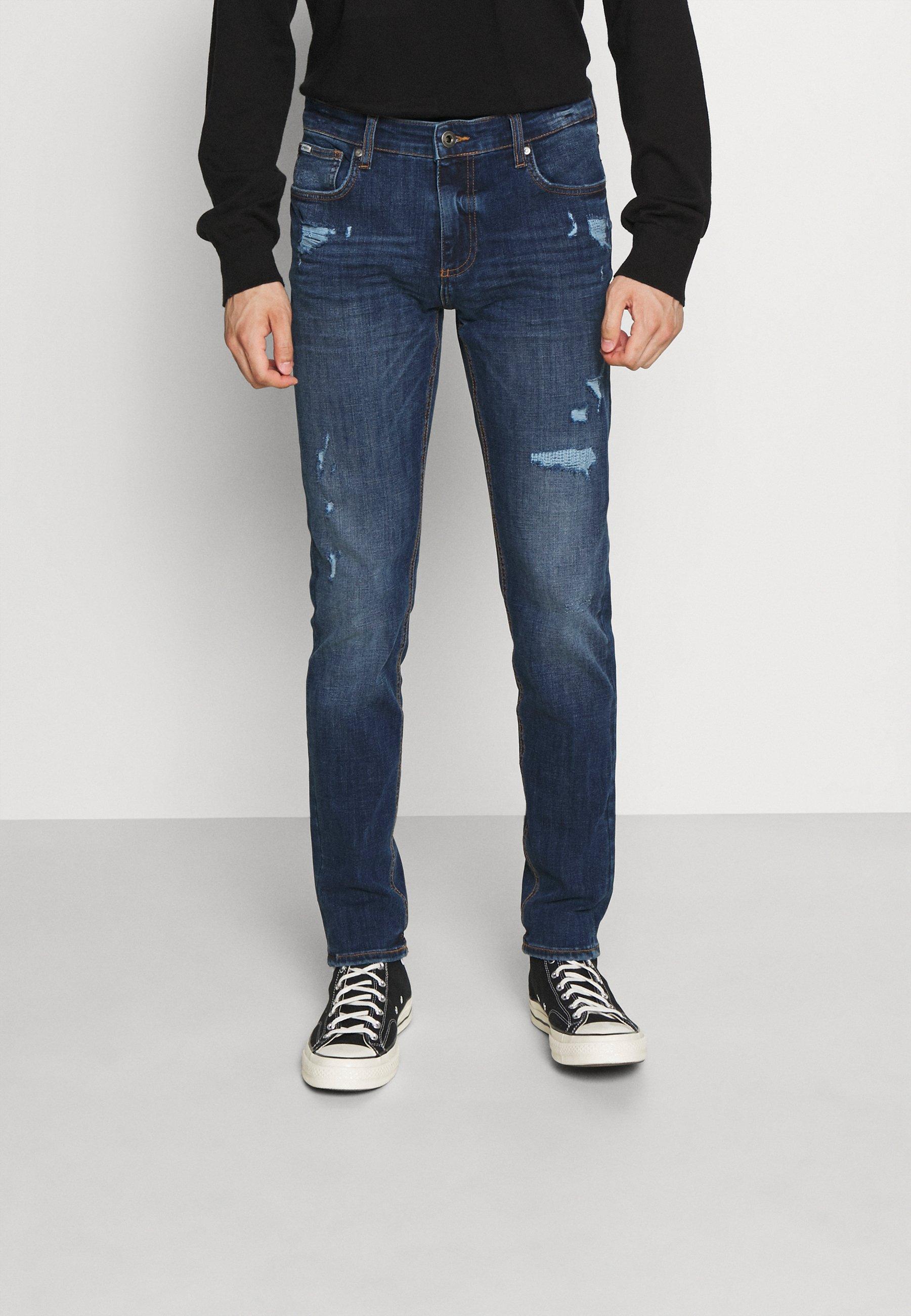 Uomo SUPERFLEX WITH DESTROY - Jeans slim fit