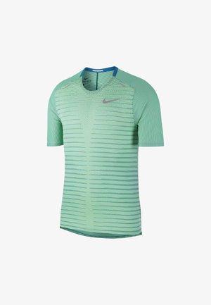 Print T-shirt - green abyss/illusion green/black