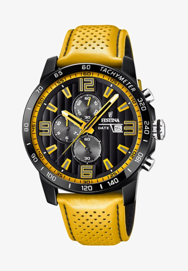 Chronograph watch - yellow