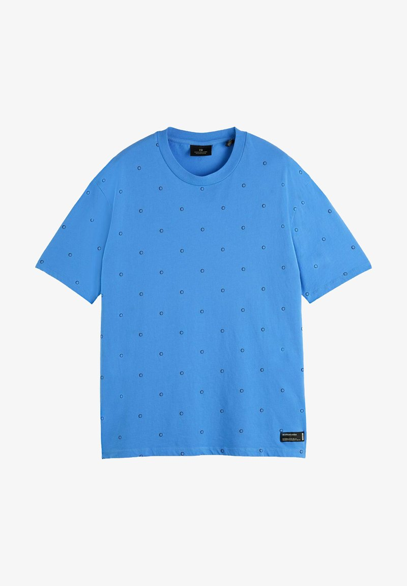 Scotch & Soda - Print T-shirt - light blue