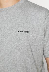 Carhartt WIP - SCRIPT EMBROIDERY - Basic T-shirt - grey heather/black - 5