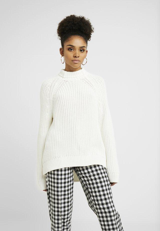 SHAKER TNECK - Pullover - off-white