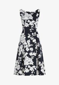 Vera Mont - MIT BLUMENPRINT - Cocktail dress / Party dress - dark blue/cream - 2