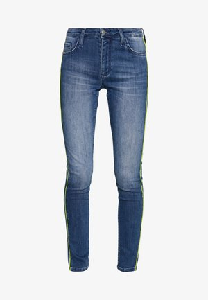 MIDI NEON PIPING - Jeans slim fit - denim blue