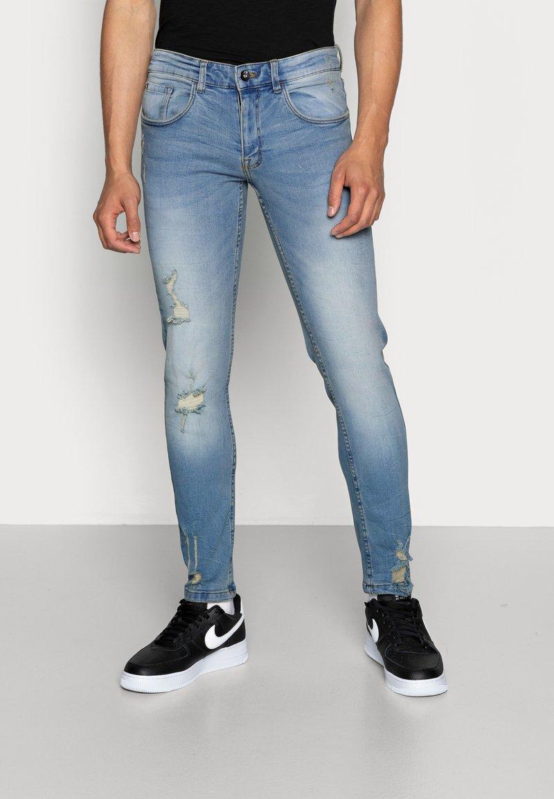 Redefined Rebel - STOCKHOLM DESTROY - Džíny Slim Fit - arctic blue