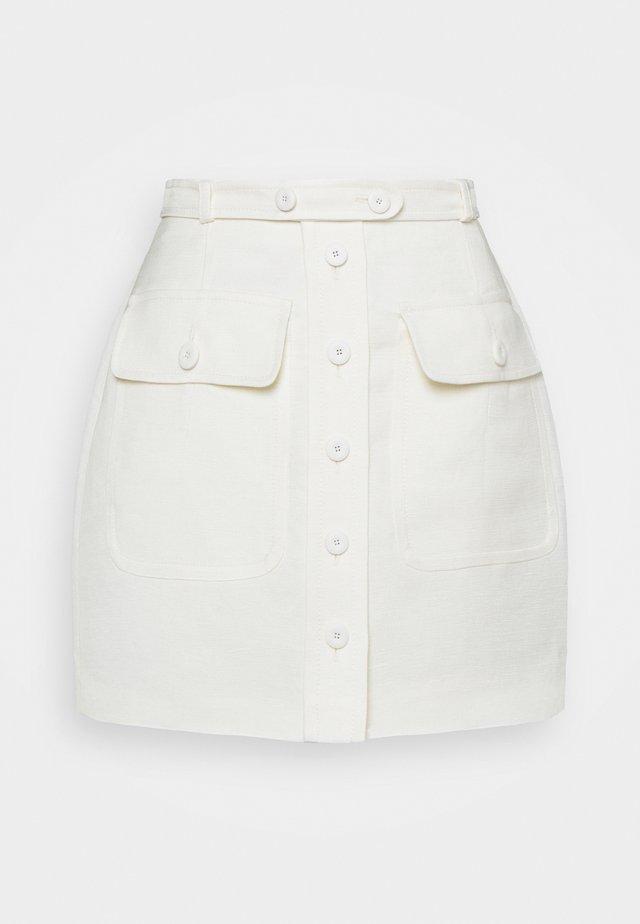 SKIRT - Minijupe - white