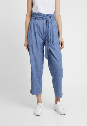 PAPERBAG PANT - Relaxed fit jeans - blue denim