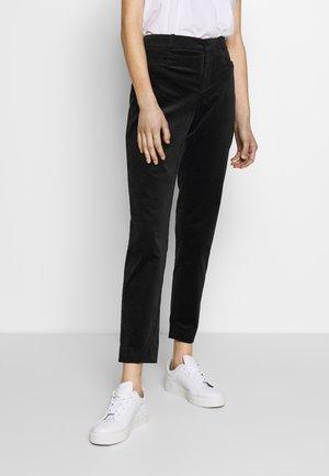 SLOAN VELVETEEN - Trousers - black