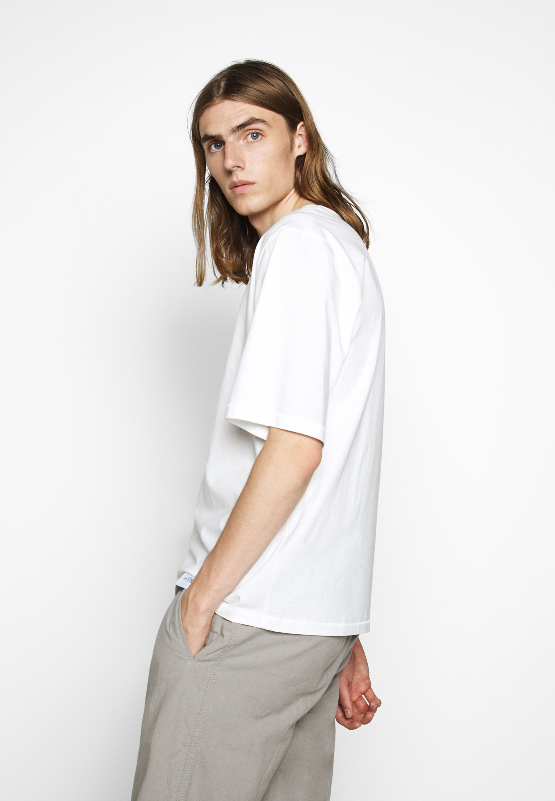 3.1 Phillip Lim OVERSIZED BOXY CREWNECK TEE - Basic T-shirt - off-white QmZuF