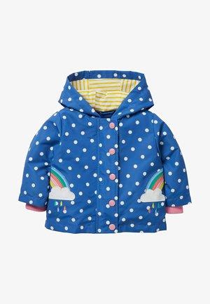 Winter coat - venedig-blau, getupft