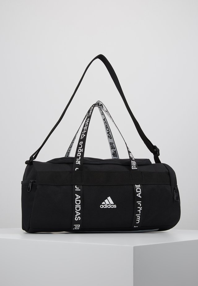 4ATHLTS ESSENTIALS 3STRIPES SPORT DUFFEL BAG - Sportstasker - black/white