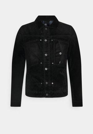 SCUTAR SLIM - Denim jacket - black iced flock