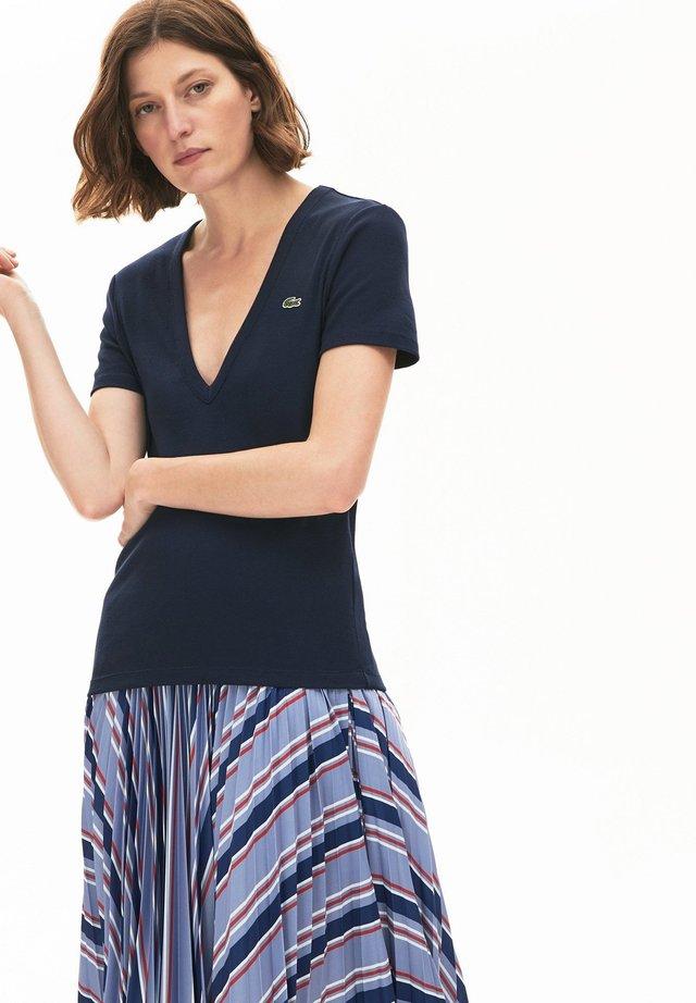 T-shirt basique - bleu marine