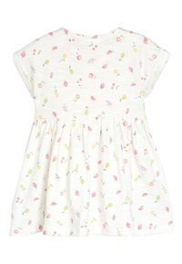Next - ECRU FRUIT PRINT JERSEY DRESS (0MTHS-2YRS) - Jerseyjurk - white - 1