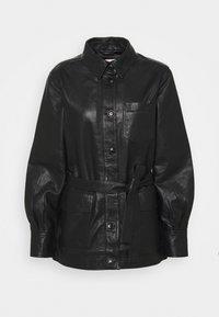 HURI - Veste en cuir - black