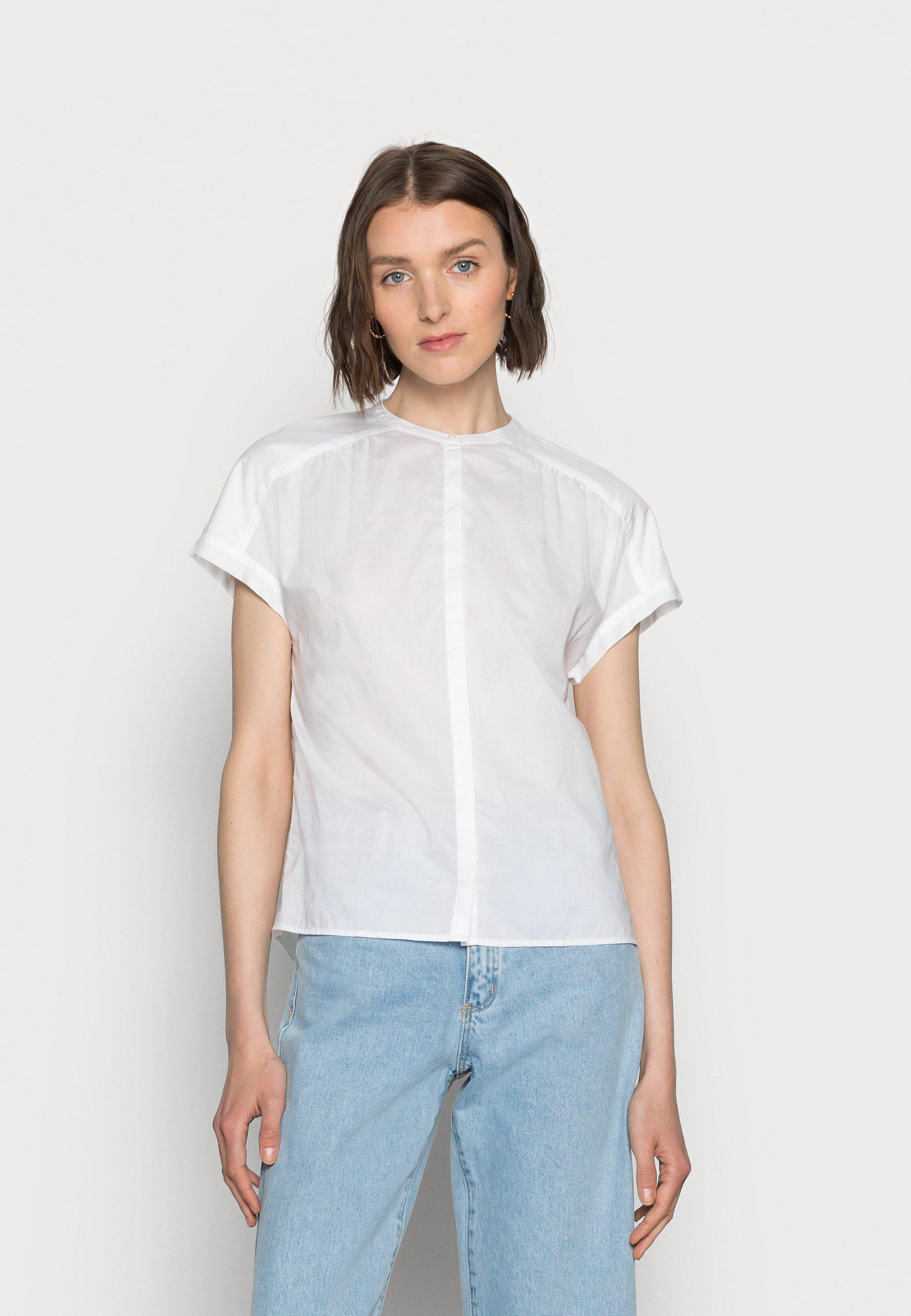 Women BLOUSE CREW NECK - Button-down blouse