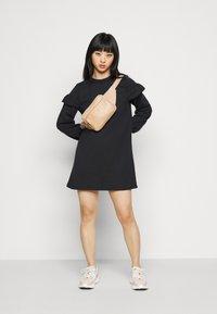 Miss Selfridge Petite - FRILL SLEEVE DRESS - Day dress - black - 1