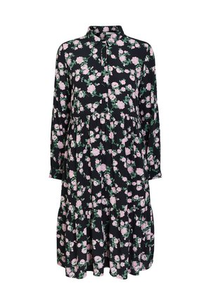 BLUMENPRINT - Shirt dress - black