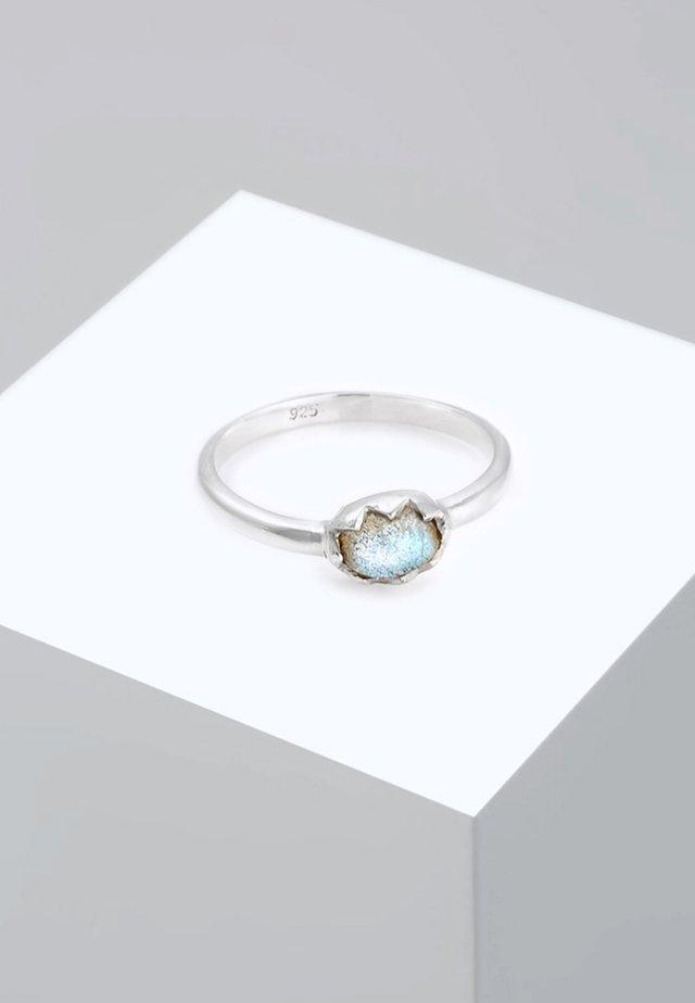RING VINTAGE LABRADORIT EDELSTEIN  - Prsten - silver-coloured