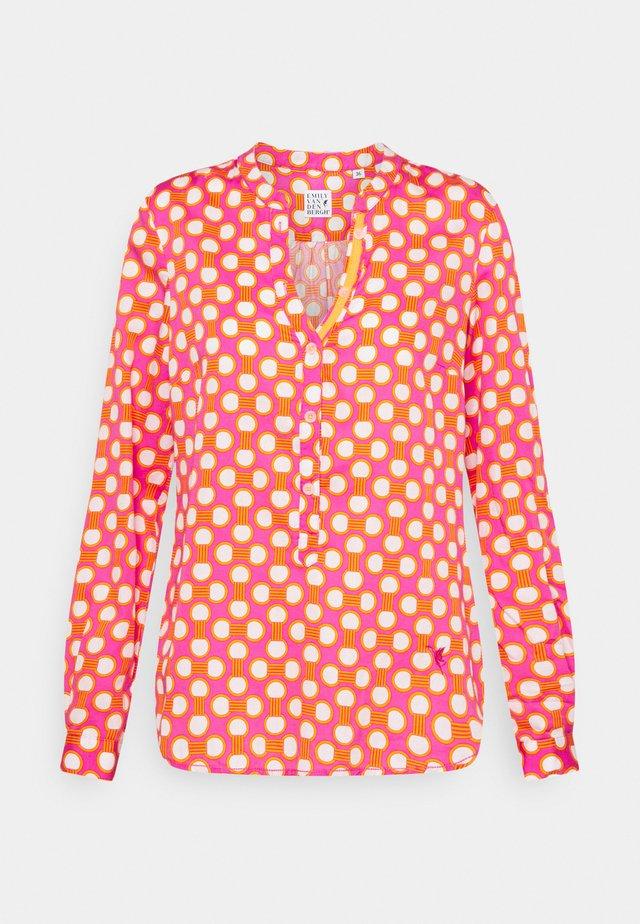 Långärmad tröja - pink/orange