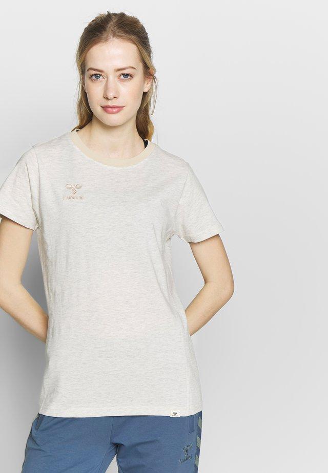 HMLMOVE  - T-shirt basic - vanilla ice