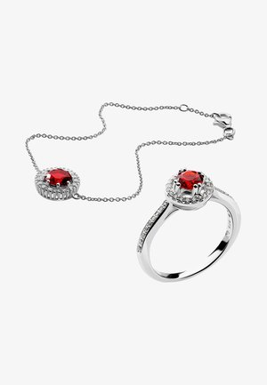 REGINE - Bracciale - silver/red