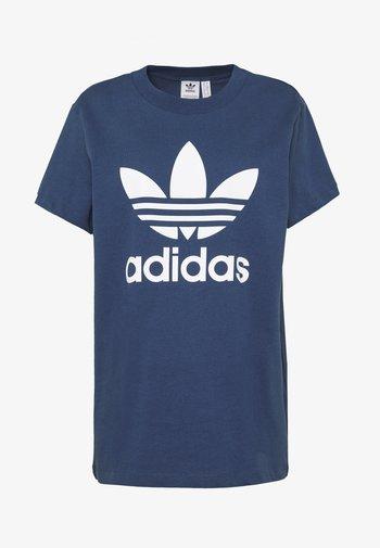Print T-shirt - night marine/white