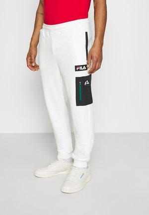 CLEM PANT - Tracksuit bottoms - blanc de blanc/black