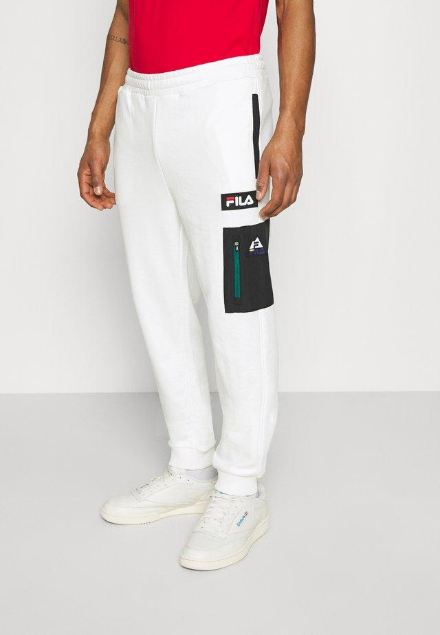 CLEM PANT - Trainingsbroek - blanc de blanc/black