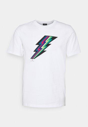 MENS REGULAR FIT LIGHTNING - Print T-shirt - white