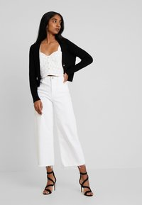 Missguided - SKINNY CROPPED CARDIGAN - Cardigan - black - 1