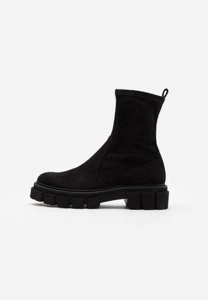 VIDA - Platform ankle boots - black