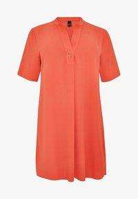 Yoek - MIT BAND-DETAIL - Day dress - orange - 3