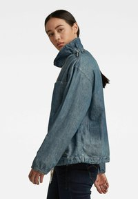 G-Star - LONG SLEEVE MOCK NECK  - Summer jacket - antic faded aegean blue painted - 2