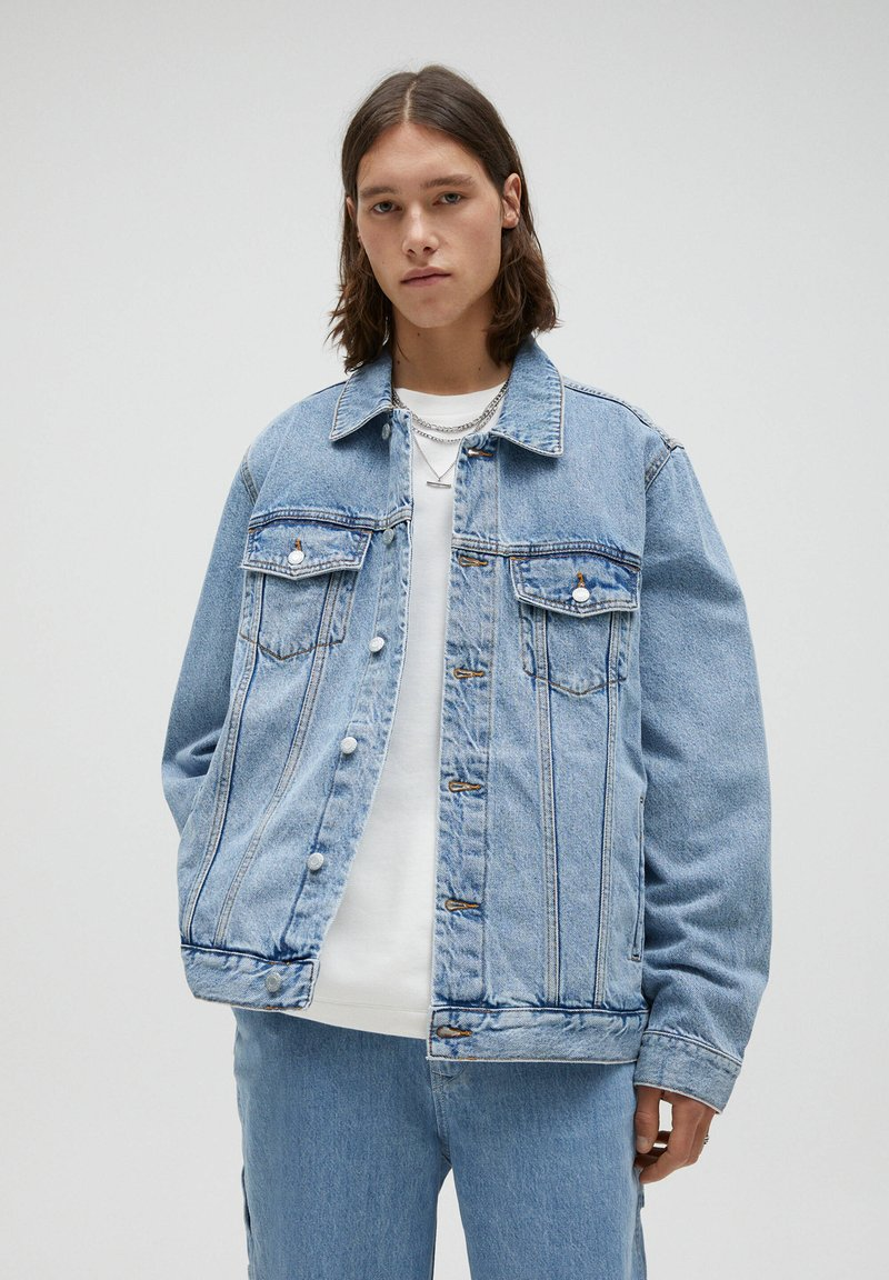 PULL&BEAR - Džínová bunda - blue