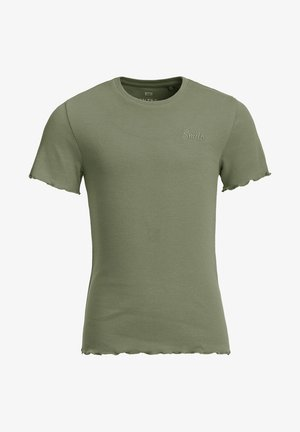 SLIM FIT  - T-shirt basic - army green