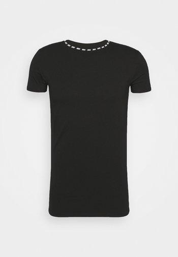 BOUND LOGO GYM TEE - Printtipaita - black/white