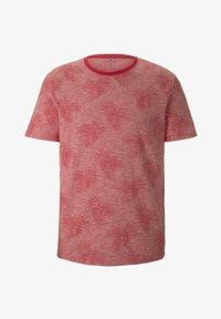 TOM TAILOR - Print T-shirt - plain red white stripe - 4