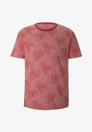 T-shirt con stampa - plain red white stripe