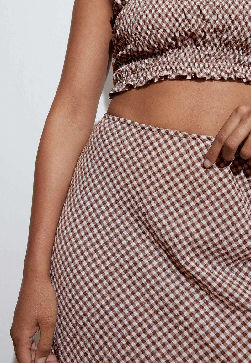 OYSHO - A-line skirt - brown