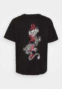 Brave Soul - FIRE - Print T-shirt - black - 1