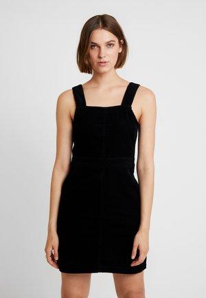 SQUARE NECK PINNY DRESS - Day dress - black
