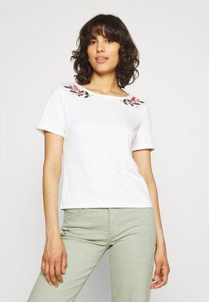 VITINNY EMBROIDERY - Print T-shirt - snow white