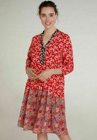 Oui - Day dress - red violett - 0