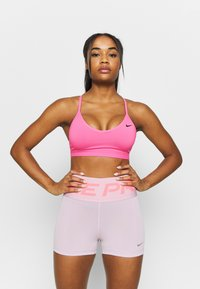 Nike Performance - INDY  - Sports bra - pink glow/black - 0