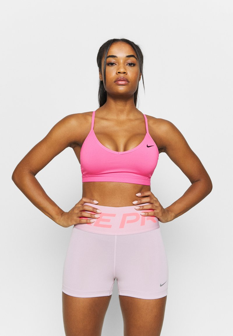 Nike Performance - INDY  - Sports bra - pink glow/black