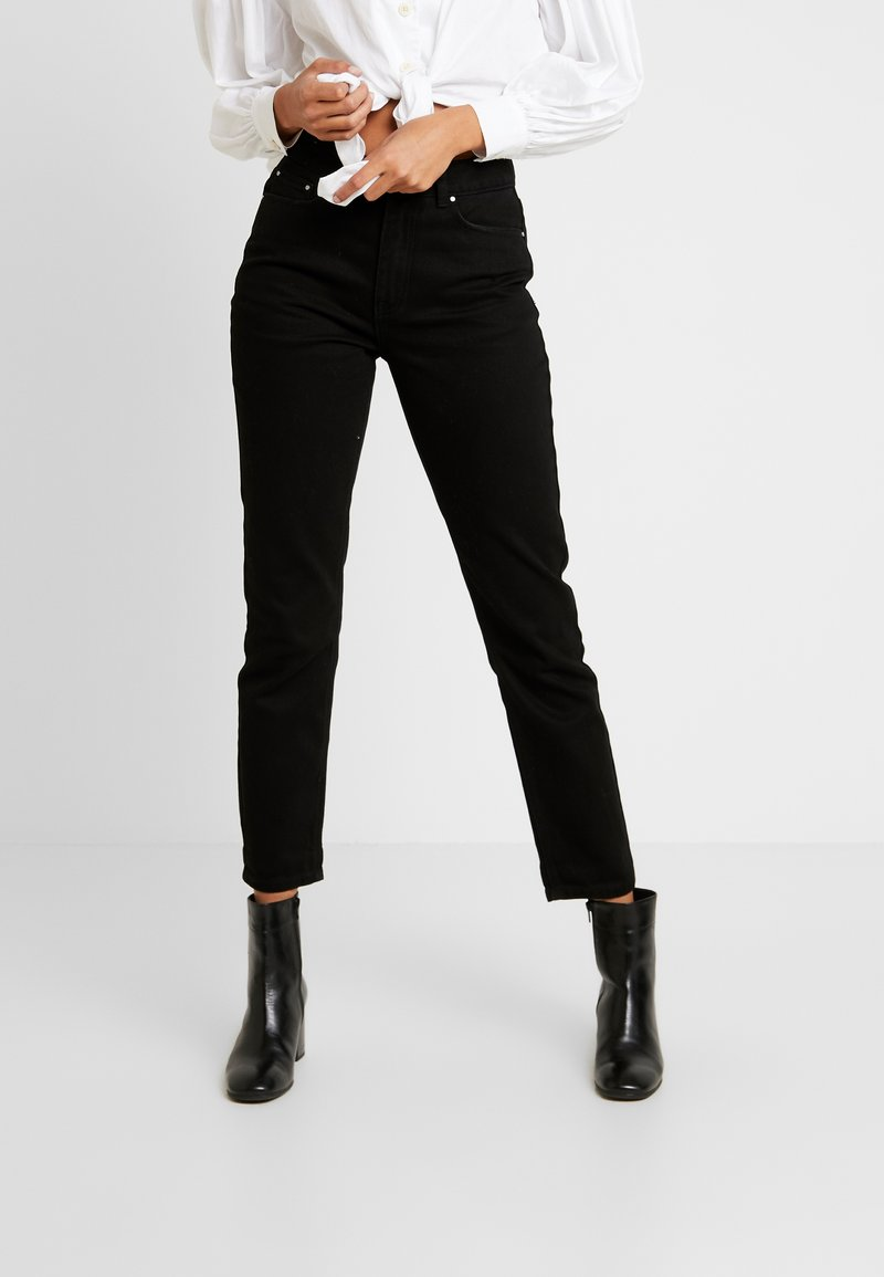 Lost Ink - SLIM MOM  - Jeans slim fit - black denim