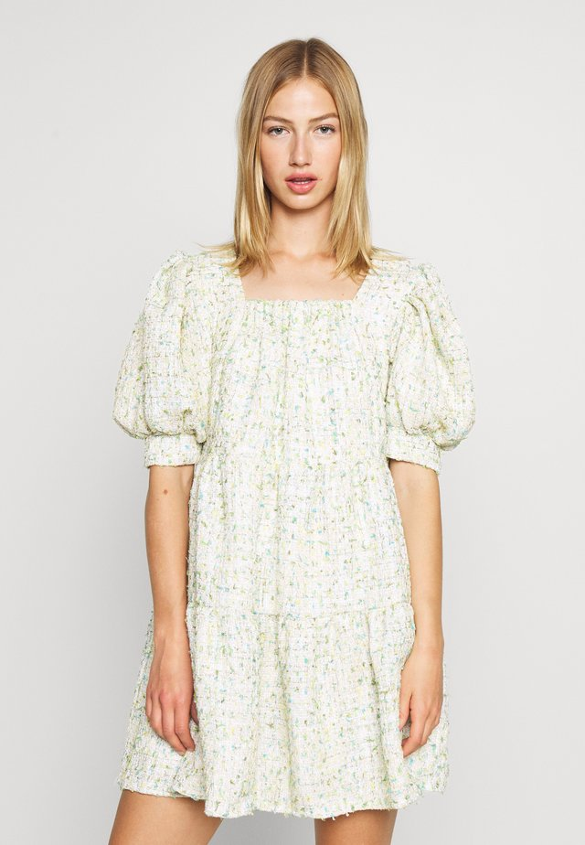 CONFETTI TWEED DRESS - Day dress - green