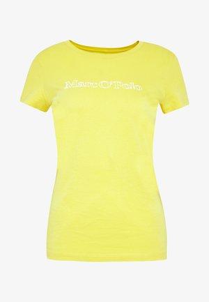 SHORT SLEEVE ROUND NECK - Print T-shirt - sunny lime