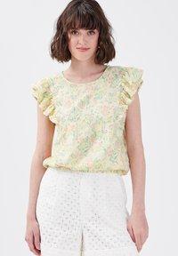 Cache Cache - Camiseta estampada - jaune pastel - 0